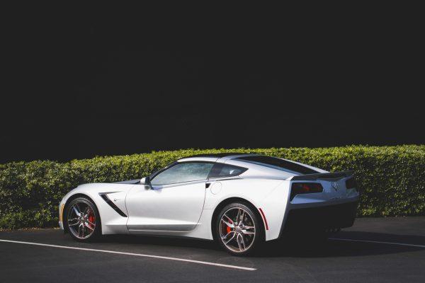 luxury silver car