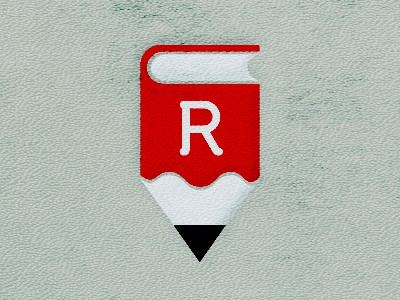 Short red pencil logo