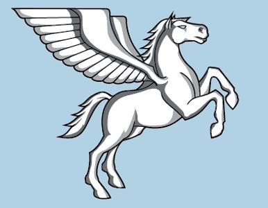 Beautiful white pegasus