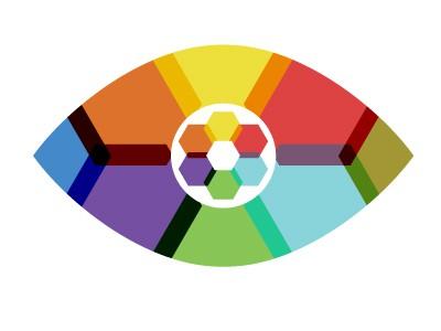 Geometric eye logo