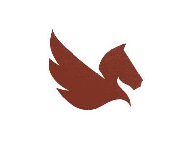 Maroon pegasus logo