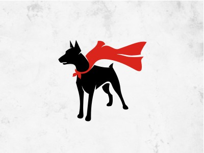 Dog with red Cape