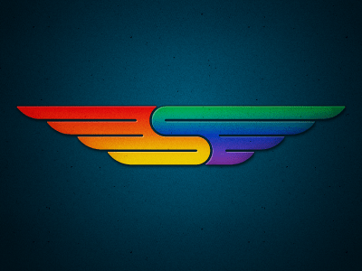 Rainbow colored wings