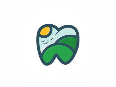 Tooth landscape logo
