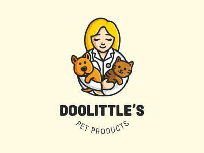Doolittle's vet clinic logo