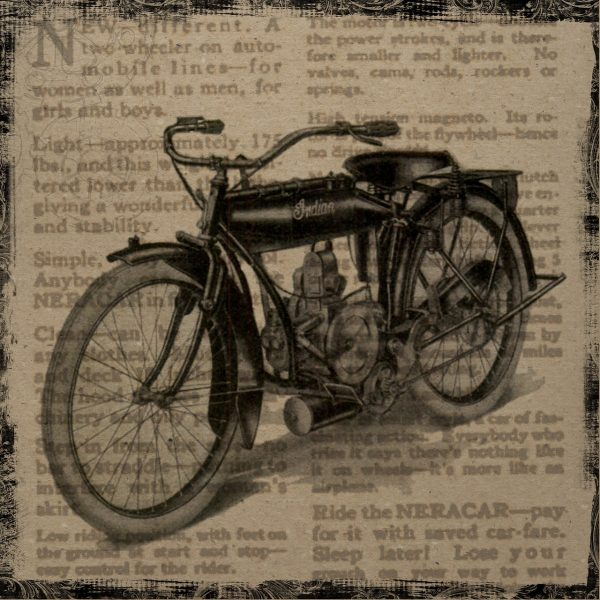vintage collage with bycicle