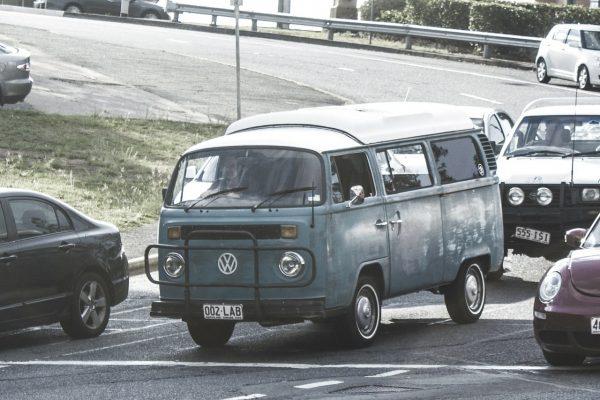 Grey campervan