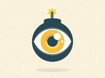 Eye with bomb design