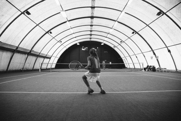 tennis black and white