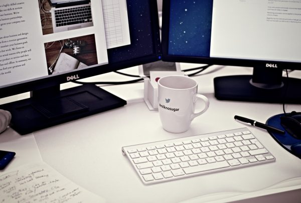 cup on the desk