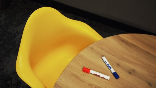 yellow chair in office