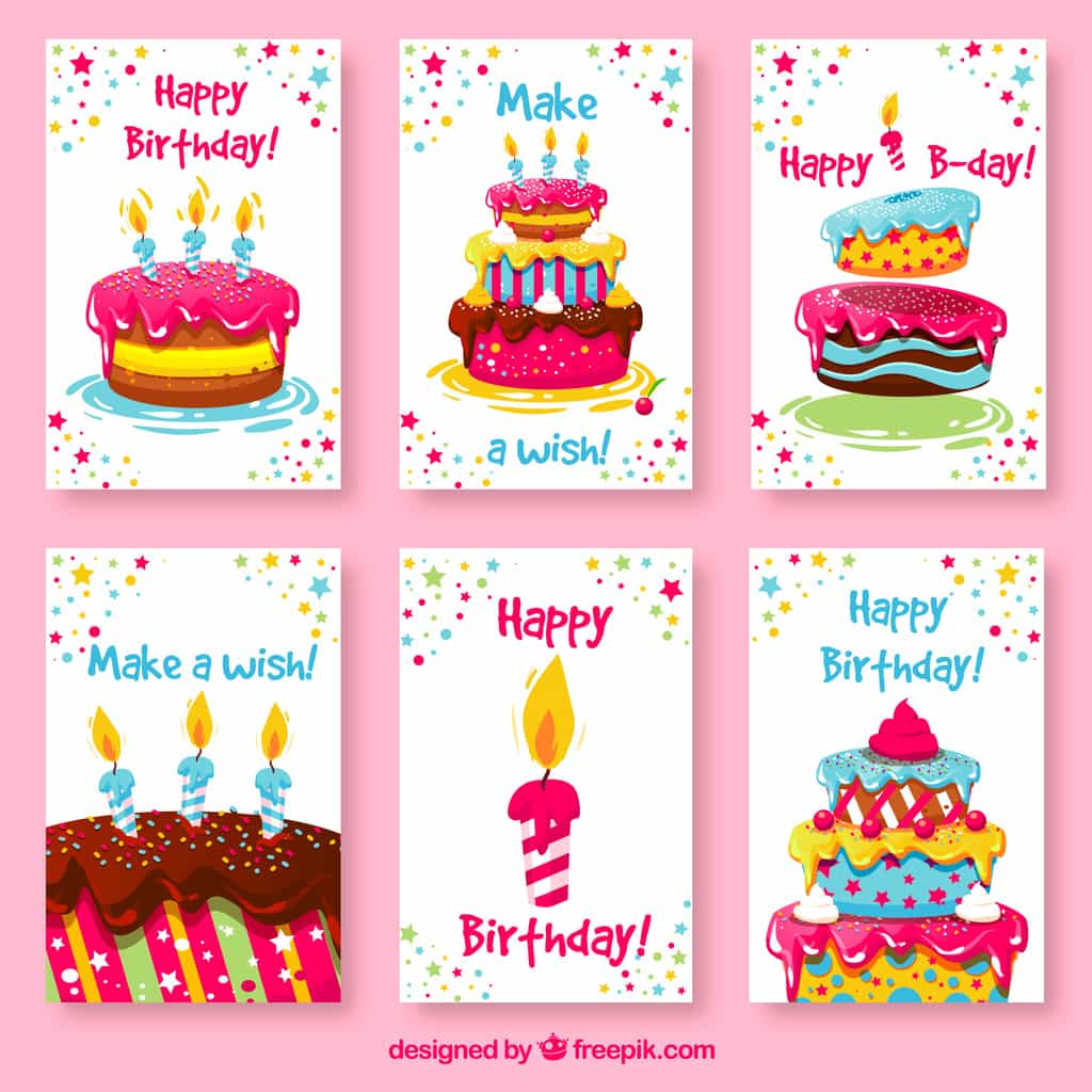 cake birthday cards