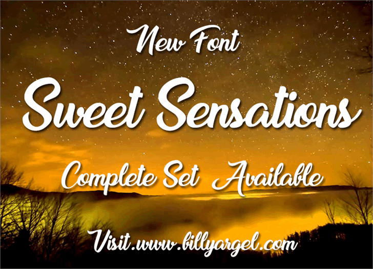 Sweet Sensations Personal Use font Modern Fonts