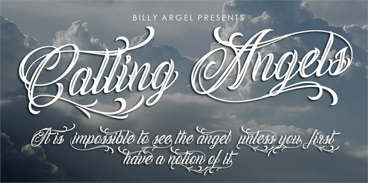 Calling Angels Modern Font — Created in 2017 by Billy Argel