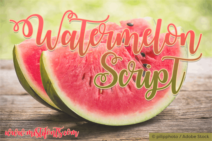 Watermelon Script Demo Modern Font — Created in 2016 by Misti's Fonts